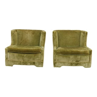 1960s Vintage Hollywood Regency Lime Green Chairs- A Pair For Sale
