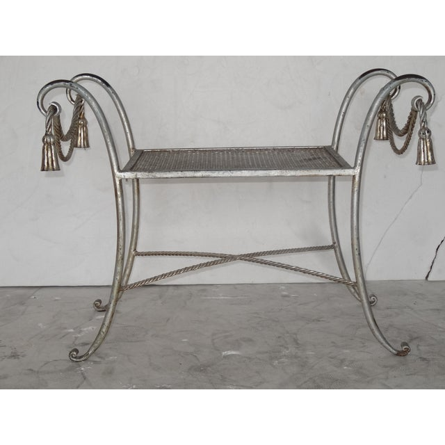 Regency Style Metal Bench For Sale - Image 4 of 7