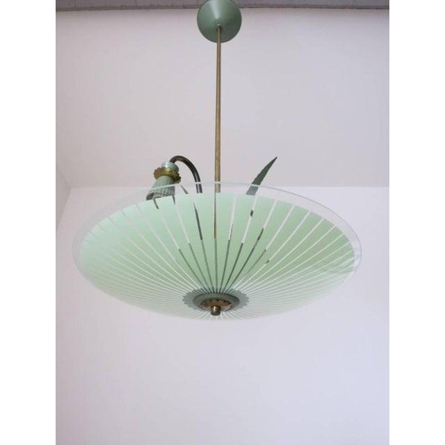 Italian Green Pendant by Stilnovo For Sale - Image 3 of 5