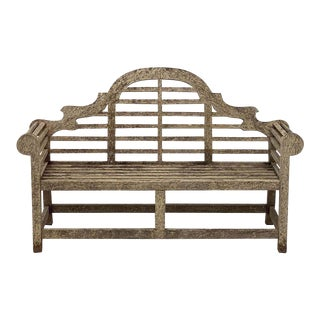 Lutyens Style Teak Garden Bench Seat From England For Sale