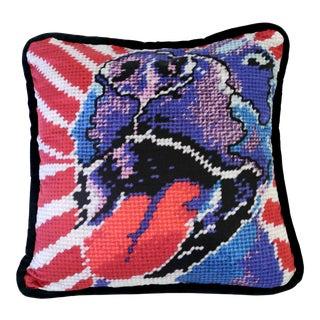 Pop Art Purple and Red Velvet Dog Pillow For Sale