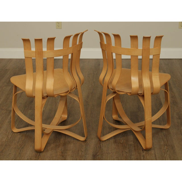 "Wood Frank Gehry for Knoll Bent Wood Pair ""Har Trick"" Chairs For Sale - Image 7 of 13"