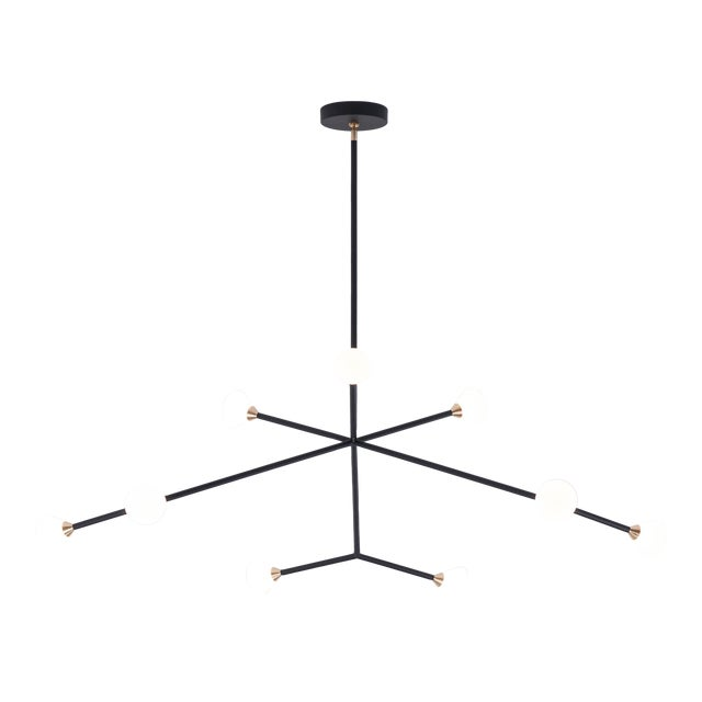 The Super Nova chandelier is centerpiece fixture with an elegant and energetic composition. This contemporary chandelier...
