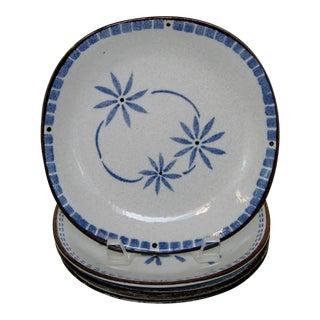 Japanese Porcelain Plates, Set of 4 For Sale