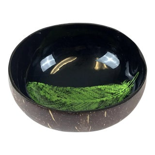 Vintage Coconut Shell Lacquer Bowl For Sale