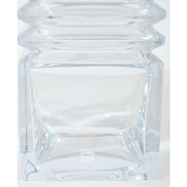 Early 20th Century Mid-Century Modernist Stepped Glass Vase by Harmoska For Sale - Image 5 of 9