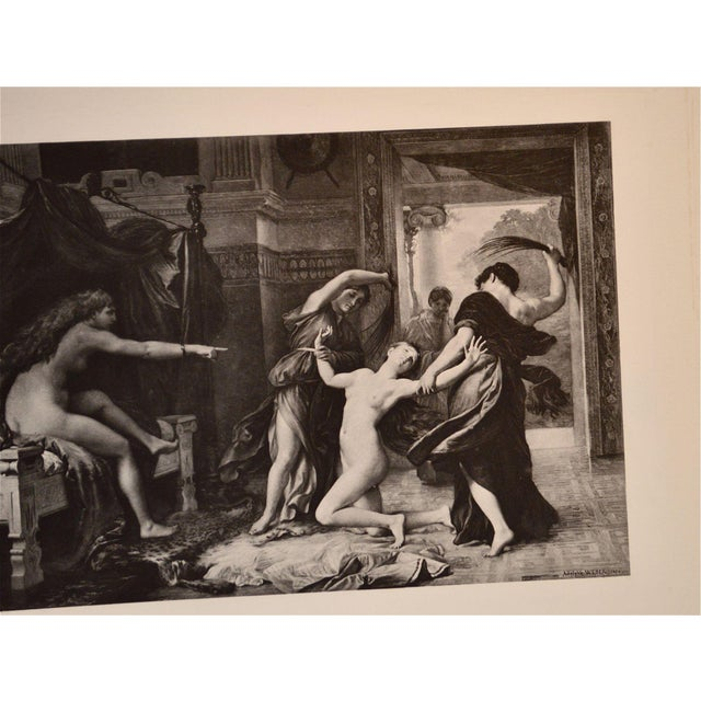 "Paper Adolphe Weber ""Psyche Whipped by Order of Venus"" 1884 Print For Sale - Image 7 of 8"