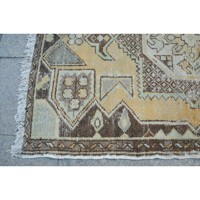 Antique Tribal Faded Rug - 3′11″ × 5′7″ For Sale In Austin - Image 6 of 6