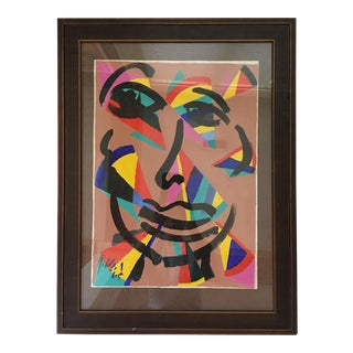 """Abstract Painting, """"Spanish Lady"""" by Peter Keil - Framed For Sale"""