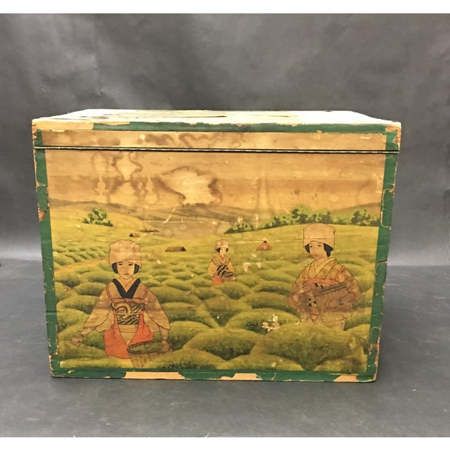 Early 20th Century 20th Century Japanese Tin Lined Tea Crate For Sale - Image 5 of 8