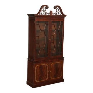 Councill Craftsmen Federal Style Tall Flame Mahogany China Cabinet For Sale