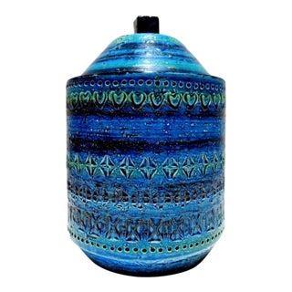 Aldo Londi for Bitossi Rimini Blu Raymor Pottery Jar For Sale