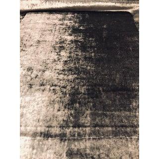 "Romo ""Musa"" Zinc Designer Crushed Velvet Grey Fabric - 4 1/2 Yards For Sale"