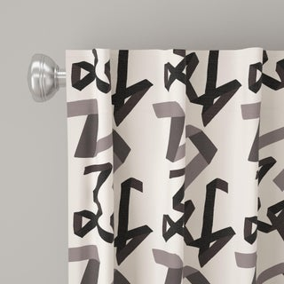 """84"""" Curtain in Black Ribbon by Angela Chrusciaki Blehm for Chairish Preview"""