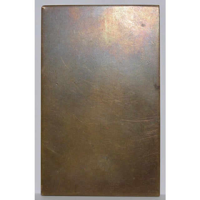 Impressionism Robert Louis Stevenson Bronze Medallion by Gutzon Borglum c.1915 For Sale - Image 3 of 4