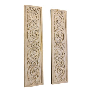 Late 20th Century Vintage Resin Wall Sculpture- a Pair For Sale