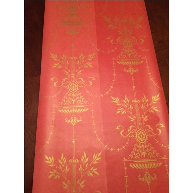 Cole & Son Dorset 2-Toned Red Wallpaper - 10 Rolls - Image 2 of 8