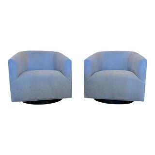 Mitchell-Gold Cooper Swivel Chairs, a Pair For Sale