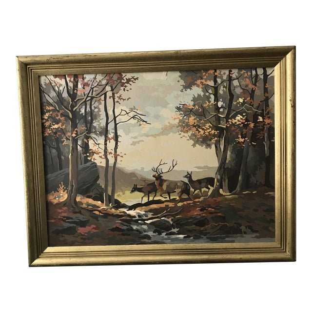 Large Deer In Fall Forest Painting By Numbers