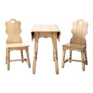 Mid-Century Monterey Style Table and Chairs - Set of 3