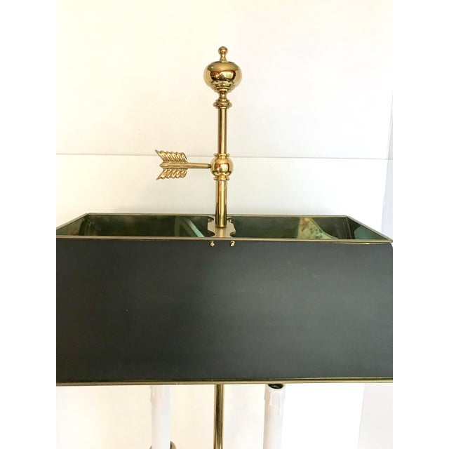 Art Nouveau Vintage Double Brass Swan Table Lamp For Sale - Image 3 of 7