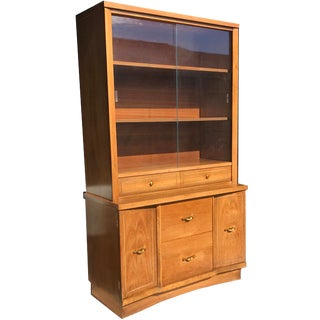 Mid Century Modern China Cabinet Mid Mod Hutch For Sale