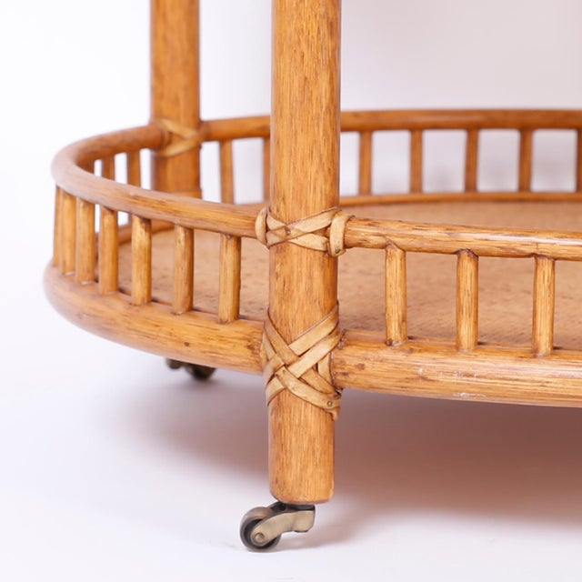 Midcentury British Colonial Style Stands or Carts - A Pair For Sale In West Palm - Image 6 of 10