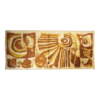 1950s Eastern European Abstract Modernist Art Tapestry or Area Runner Rug For Sale