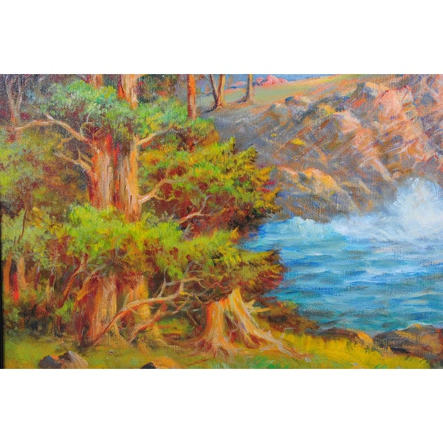 1935 Andreas Roth Carmel Coastline Oil Painting - Image 8 of 9