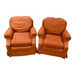 Highland House Upholstered Chairs- A Pair For Sale
