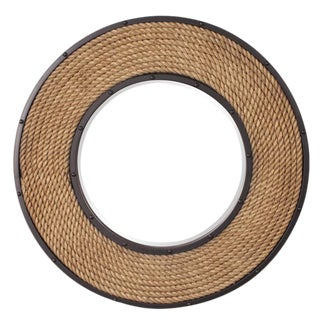 Newport Rope Round Wall Mirror For Sale