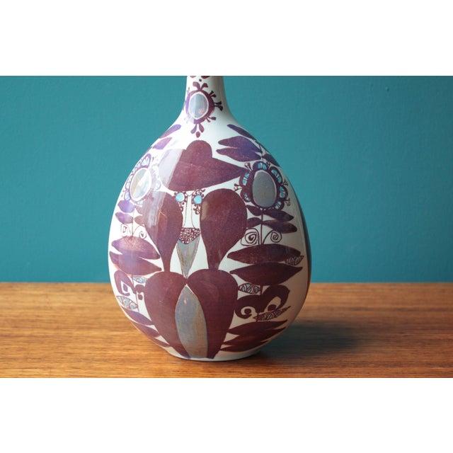 Mid-Century Modern Faience Bottle Vase by Kari Christensen for Royal Copenhagen For Sale - Image 3 of 7