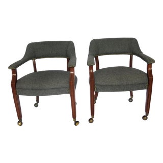 Mid-Century English Style Side Chairs- A Pair For Sale