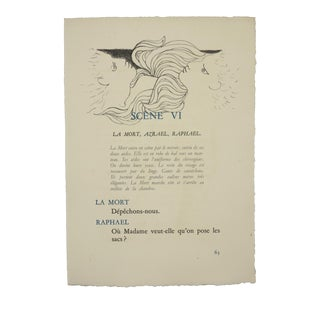"""Scene Vi"", Original Lithograph From the Illustrated Play, ""Orphee"", by Jean Cocteau, Circa 1944 For Sale"
