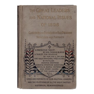 """1896 """"Great Leaders & National Issues of 1896"""""""