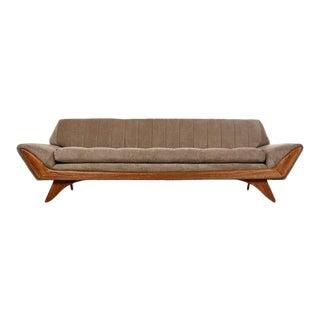 Restored Midcentury Adrian Pearsall Oak Accent Gondola Sofa Couch, circa 1960s