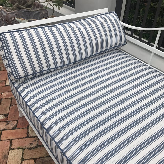Cast Iron Sunbrella Upholstered Outdoor Daybed For Sale In Miami - Image 6 of 7