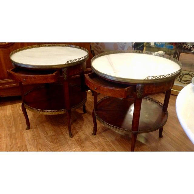 Pair of Fine French Bouillotte Tables For Sale - Image 4 of 13