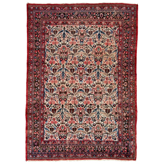 """Vintage Persian Rug, 8'10"""" X 12'09"""" For Sale"""