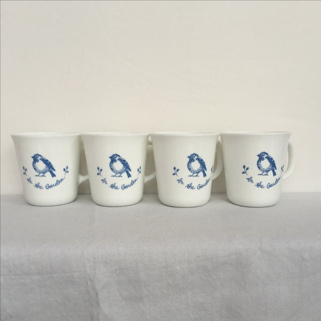 Vintage Blue & White Coffee Cups - Set of 4 - Image 2 of 11