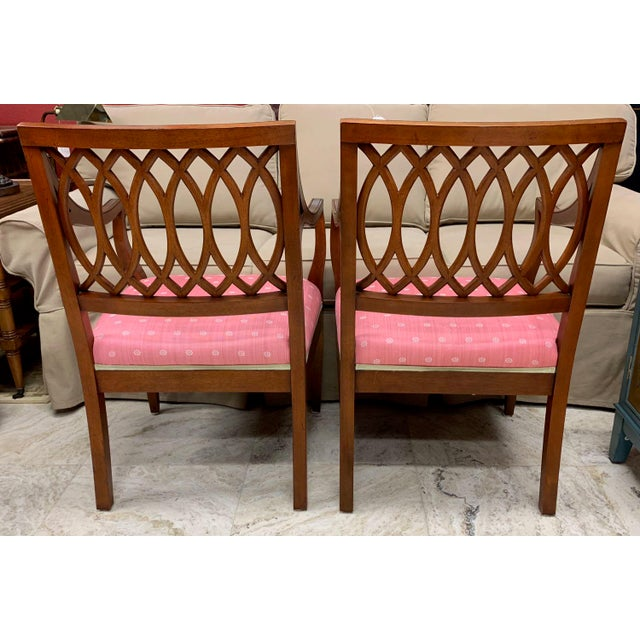 1990s Vintage Baker Williamsburg Collection Armchairs - A Pair For Sale In Tampa - Image 6 of 12