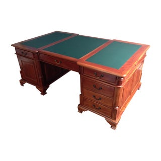 Solid Wood Executive Partners Desk For Sale