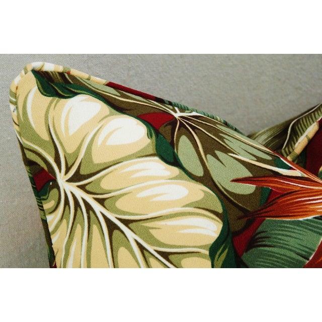 Custom Tailored Bird of Paradise Barkcloth Feather/Down Pillow - Image 5 of 5