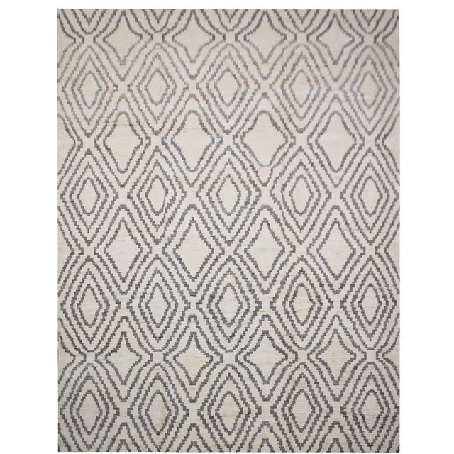 "Aara Rugs Inc. Hand Knotted Navajo Style Rug - 9'9"" X 13'3"" For Sale - Image 4 of 4"