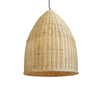 Raw Wicker Pod Lantern Large For Sale