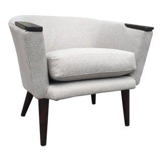 Danish Petite Fabric Club Chair For Sale