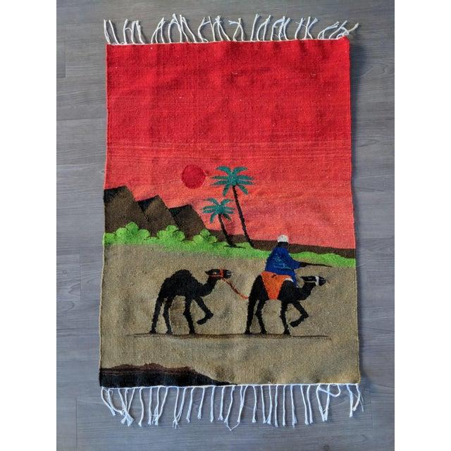 """Egyptian Handmade Rug - 2'8"""" x 3'8"""" For Sale - Image 4 of 4"""
