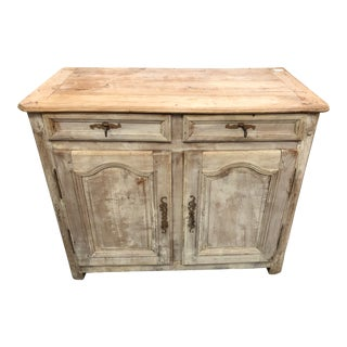 18th Century French Bleached Walnut Buffet For Sale