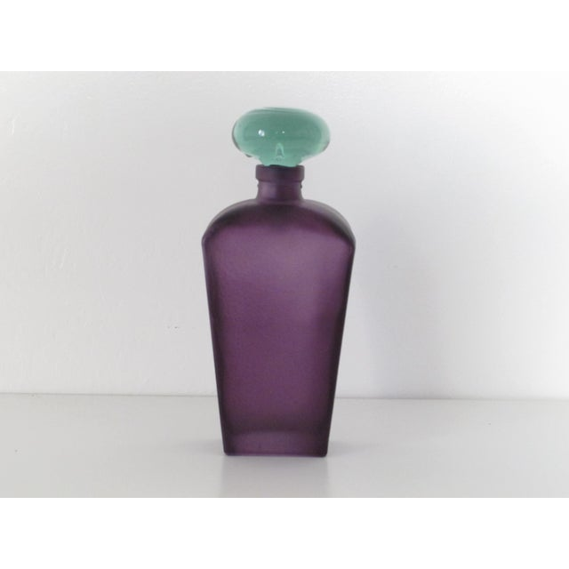 Purple Glass Decanter - Image 2 of 4