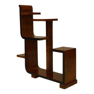 French Art Deco Walnut Small Etegere (Tier Table) For Sale